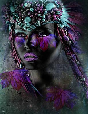 Contemporary Native Art Mixed Media - Sensually Beautiful  by G Berry