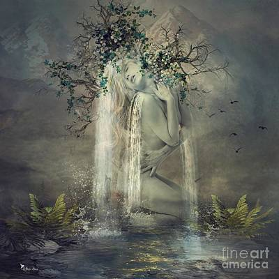 Digital Art - Sensual Falls by Ali Oppy
