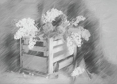 Digital Art - Sent To You With Love Black And White by Georgiana Romanovna