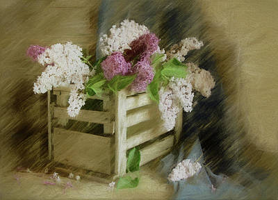 Wooden Mixed Media - Sent To You With Love by Georgiana Romanovna