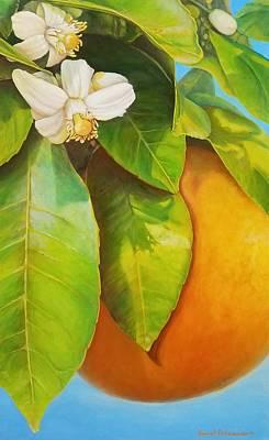 Painting - Senteur Orange by Muriel Dolemieux