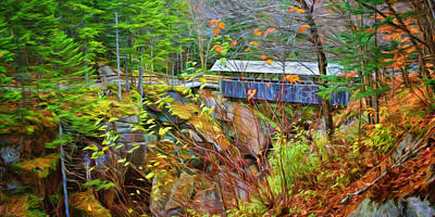 Photograph - Sentinel Pine - Covered Bridge by Nikolyn McDonald