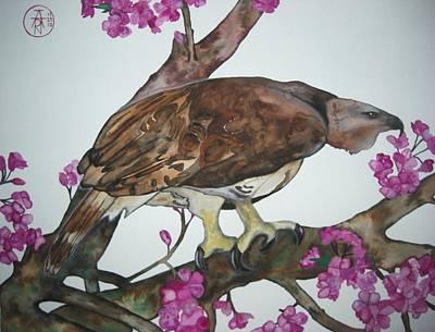 Sakura Painting - Sentinel by Audrey N Reda