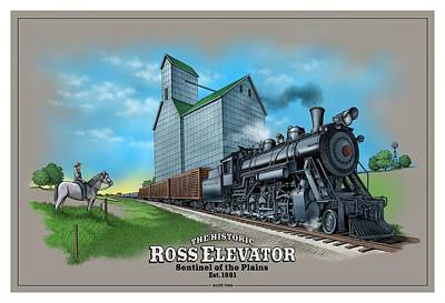 Digital Art - The Ross Elevator Sentinel Of The Plains by Scott Ross