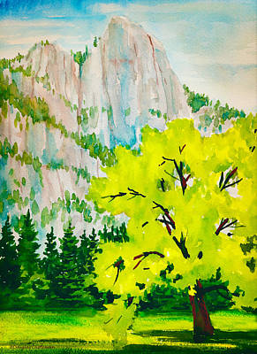 Painting - Sentinel Rock With Tree by Douglas Castleman