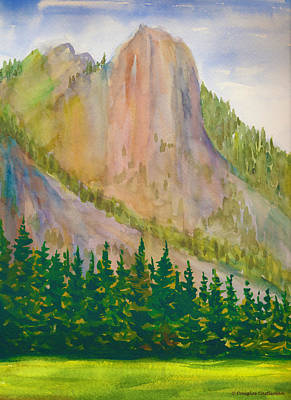 Painting - Sentinel Rock Yosemite Spring by Douglas Castleman
