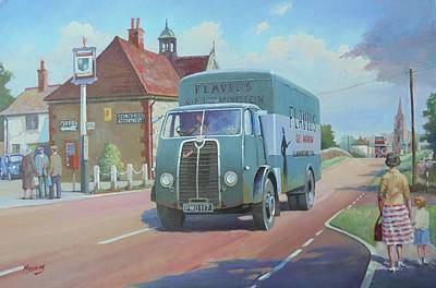 Painting - Sentinel Van Flavel Stoves. by Mike Jeffries