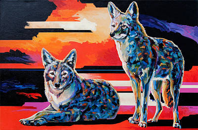 Coyote Art Painting - Sentinels II by Bob Coonts
