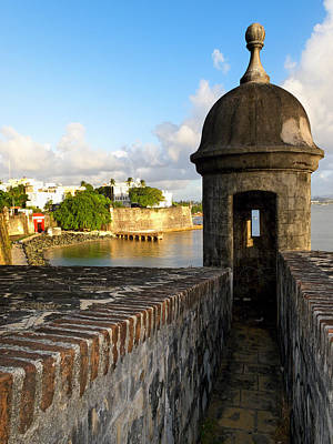 Spanish Landscape Photograph - Sentry Post On Old City Wall by George Oze