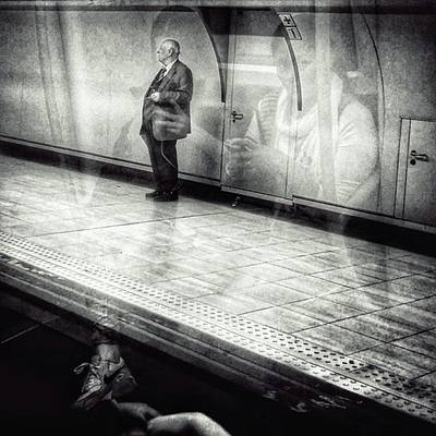 London Photograph - Señor #metro #underground #subway by Rafa Rivas