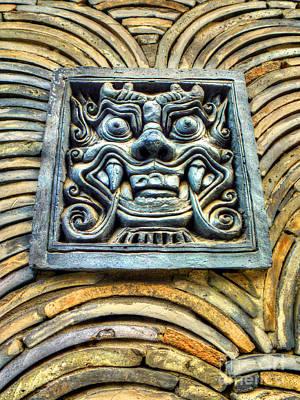 Seoul Mask Tile Art Print by Michael Garyet