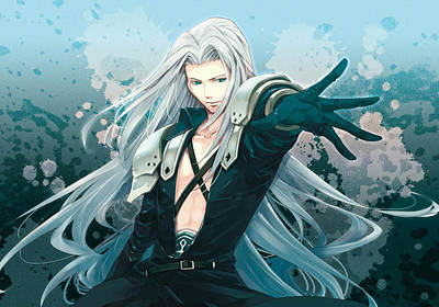 Sephiroth Digital Art - Sephiroth by Esmeralda Madrid