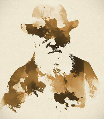 London Mixed Media - Sepia Abstract Darwin by Dan Sproul
