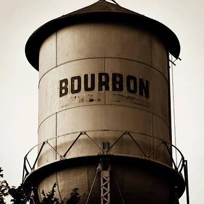 Photograph - Sepia Bourbon Vintage Art - Square Format by Gregory Ballos
