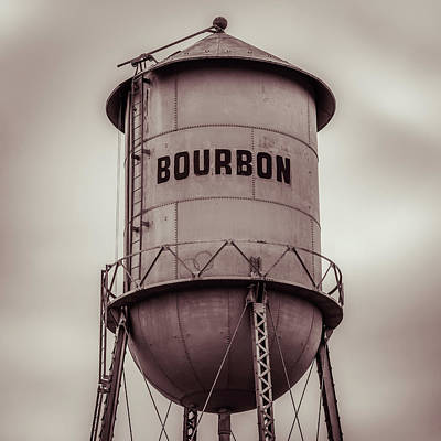 Photograph - Sepia Bourbon Vintage Tower - 1x1 by Gregory Ballos