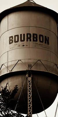Photograph - Sepia Bourbon Whiskey Water Tower - Panoramic by Gregory Ballos