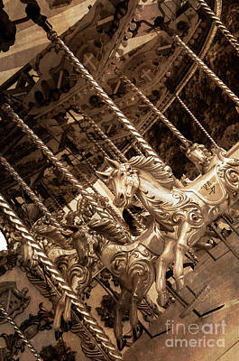 Photograph - Sepia Carousel Horse by Paul Warburton