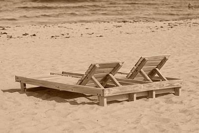 Sepia Chairs Original by Rob Hans