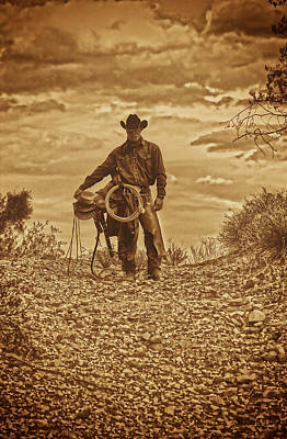 Photograph - Sepia Cowboy by Amanda Smith