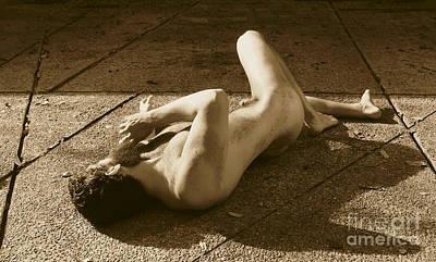 Photograph - Sepia Figure by Robert D McBain
