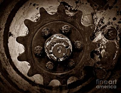 Photograph - Sepia Gear by Chalet Roome-Rigdon