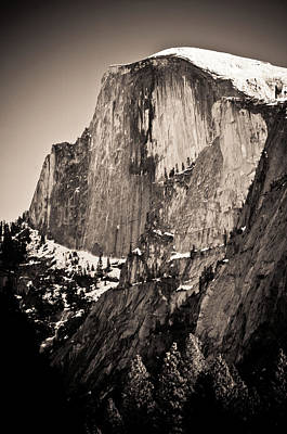 Photograph - Sepia Half Dome by Scott Sawyer