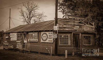 Photograph - Sepia Lowcountry Shack by Dale Powell