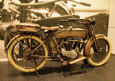 Photograph - Sepia Motorcycle by Perggals - Stacey Turner