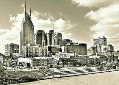 Photograph - Sepia Nashville by Frozen in Time Fine Art Photography