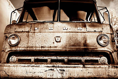 Photograph - Sepia - Old Ford Trucks Never Die by Luke Moore