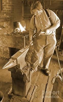 Sepia Portrait Of A Blacksmith Original