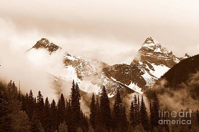 Photograph - Sepia Rockies by Samiksa Art