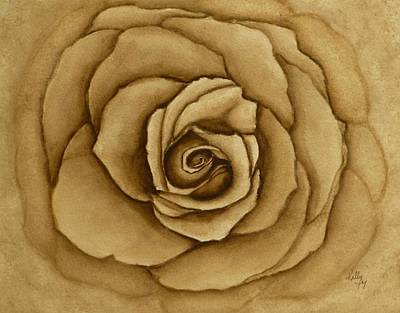 Painting - Sepia Rose by Kelly Mills
