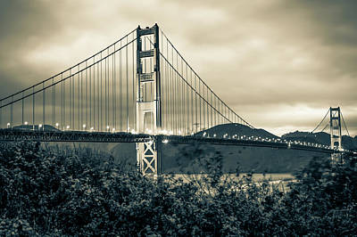 Photograph - Sepia San Francisco - Golden Gate Bridge by Gregory Ballos