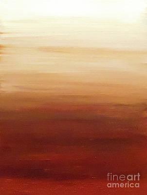 Terra Painting - Sepia Sand by Jilian Cramb - AMothersFineArt