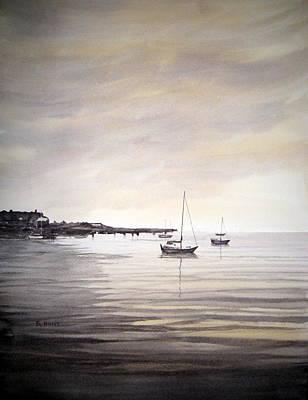 Sepia Sea Original by Shirley Braithwaite Hunt