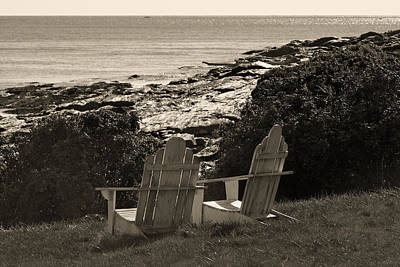 Sepia Seaside Retreat Art Print by Lone Dakota Photography