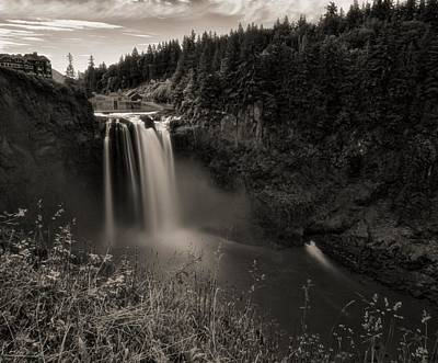 Photograph - Sepia Snoqualmie Falls by Dan Sproul