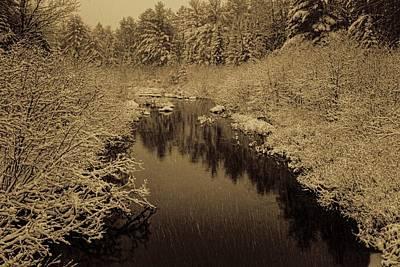 Photograph - Sepia Snowfall On Boot Creek by Dale Kauzlaric