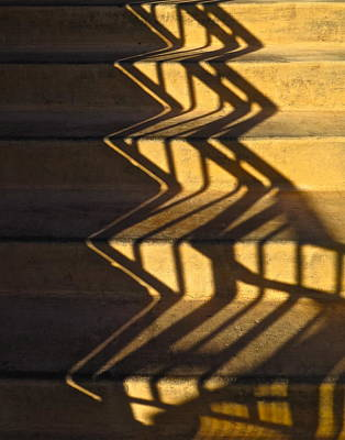 Sepia Stair Abstract Art Print