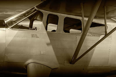 Photograph - Sepia Tone Of Us Navy Airplane Gh-2 by Randall Nyhof