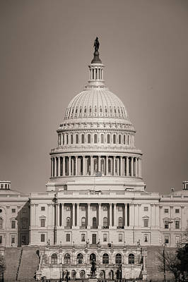 Photograph - Sepia Tones On The Us Capitol Building by Gregory Ballos