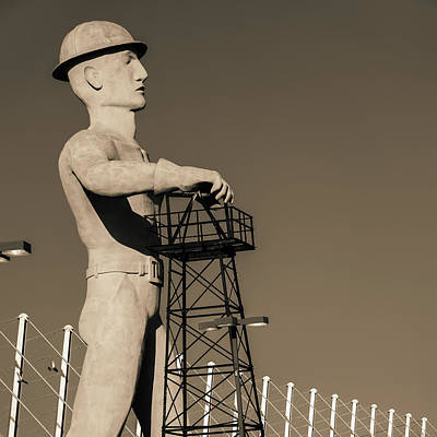 Photograph - Sepia Tulsa Driller - Oklahoma by Gregory Ballos