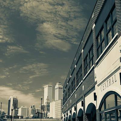 Photograph - Sepia Tulsa Oklahoma Skyline Square by Gregory Ballos
