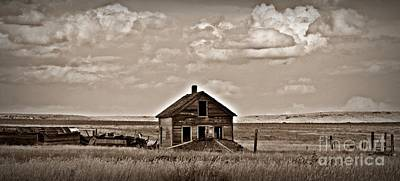 Sepia Vananda Homestead Art Print by Chalet Roome-Rigdon