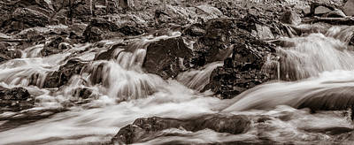 Photograph - Sepia Waterfall by Heidi Hermes