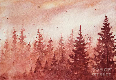 Painting - Sepia Winter Day by Rebecca Davis