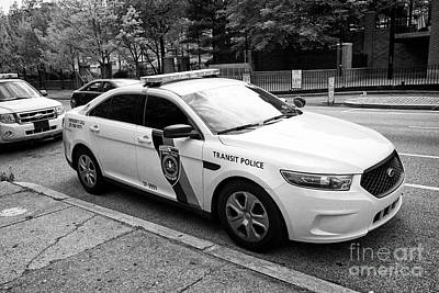 Police Cruiser Photograph - septa southeastern pennsylvania transit authority transit police ford cruiser patrol car Philadelphi by Joe Fox