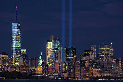 Photograph - September 11tribute In Light by Emmanuel Panagiotakis