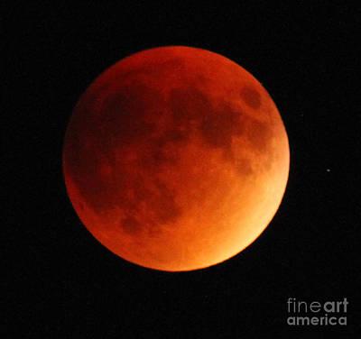 September 27 Blood Moon Art Print by Adam Jewell
